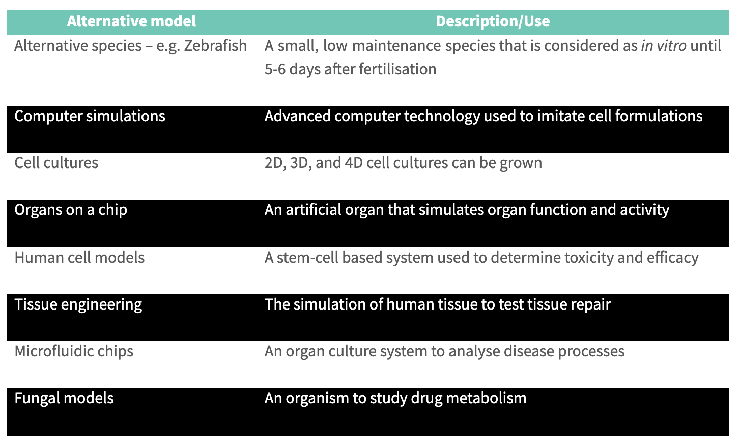 The Cost of Drug Development Using Alternative Models